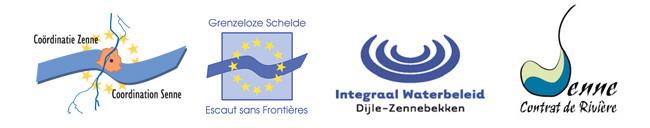 logo CoZ-CoS, GS-ESF, Bekkensecretariaat Dijle-Zenne, Contrat de Rivière Senne